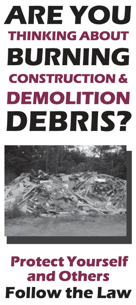 Burning Debris Brochure